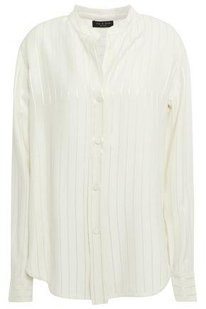 RAG & BONE Striped satin-jacquard shirt