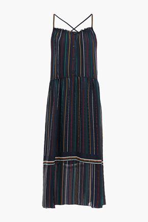 RAG & BONE Austin striped silk-chiffon midi dress