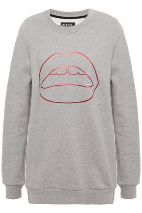MARKUS LUPFER Anna metallic printed cotton-fleece sweatshirt
