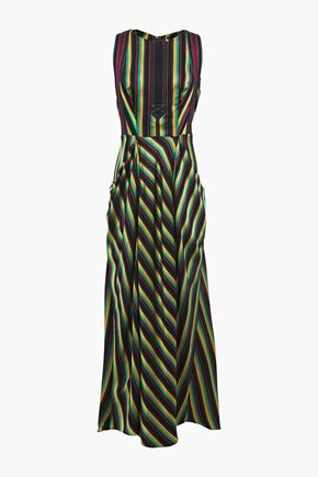 3.1 PHILLIP LIM Draped striped twill maxi dress