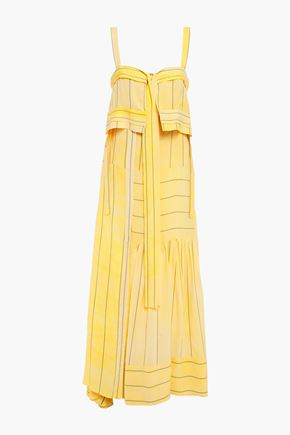 3.1 PHILLIP LIM Cutout layered striped crepe maxi dress