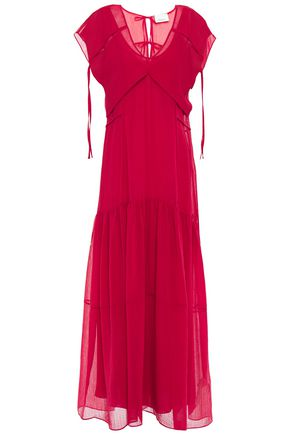 3.1 PHILLIP LIM Convertible hammered cotton and silk-blend voile maxi dress
