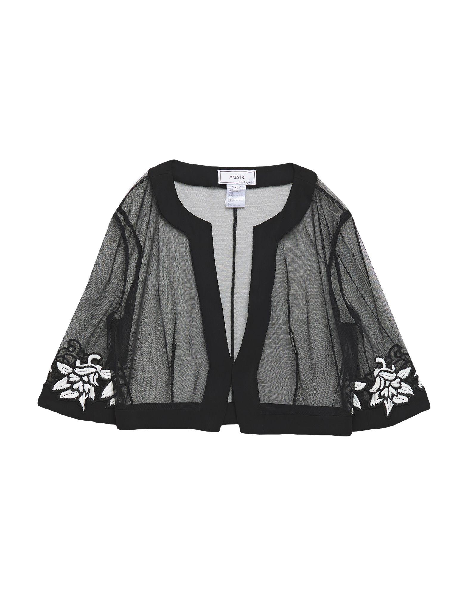 《セール開催中》MAESTRI レディース テーラードジャケット ブラック 12 ポリエステル 100%