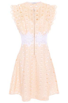SANDRO Kamel flared guipure lace mini dress