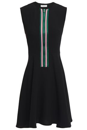 SANDRO Ines flared striped crepe mini dress