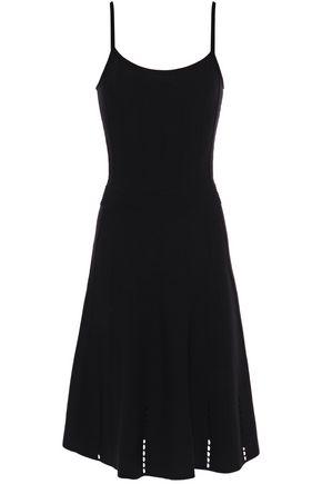 SANDRO Winsley pointelle-trimmed stretch-knit dress