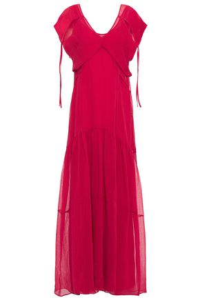 3.1 PHILLIP LIM Layered hammered cotton and silk-blend maxi dress