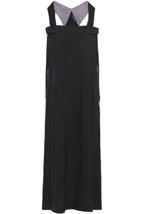 """RAG & BONE فستان متوسط الطول """"أدريان"""" من التويل الساتان المجعد مزين بأزرار"""