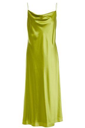 CINQ À SEPT Marta draped silk-satin midi slip dress