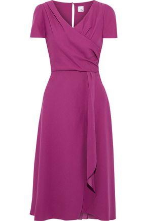 IRIS & INK Jacaranda wrap-effect crepe midi dress