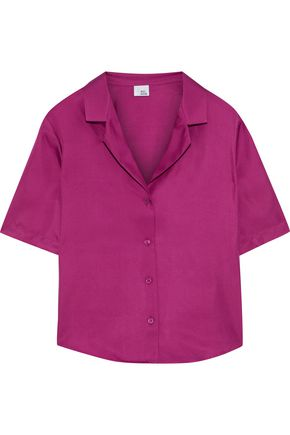 IRIS & INK Savannah silk-twill shirt