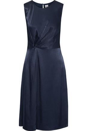 IRIS & INK Emu twisted satin-crepe dress