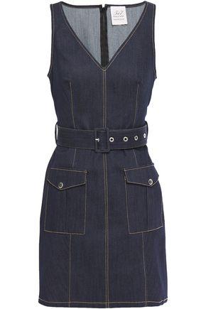 CINQ À SEPT Gwyneth belted denim mini dress