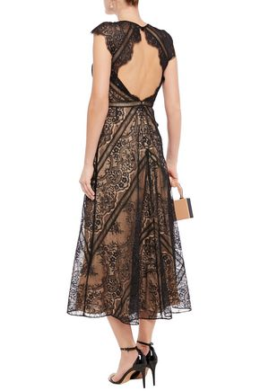 CATHERINE DEANE Neko open-back Chantilly lace midi dress