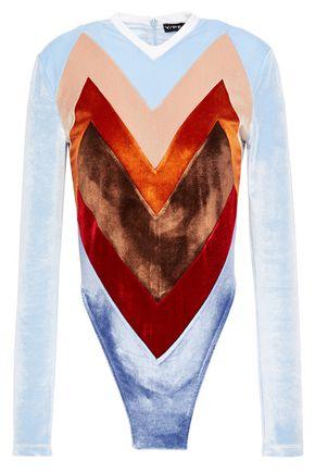Y/PROJECT Color-block velvet bodysuit