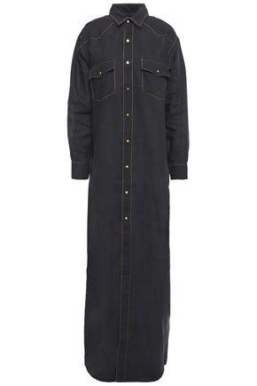 MARQUES' ALMEIDA Snap-detailed linen maxi shirt dress