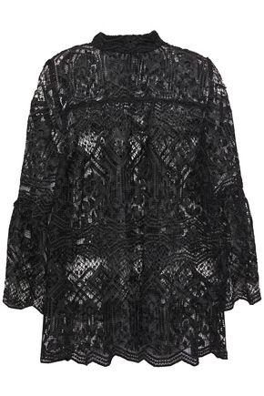 ANNA SUI Fluted macramé lace blouse