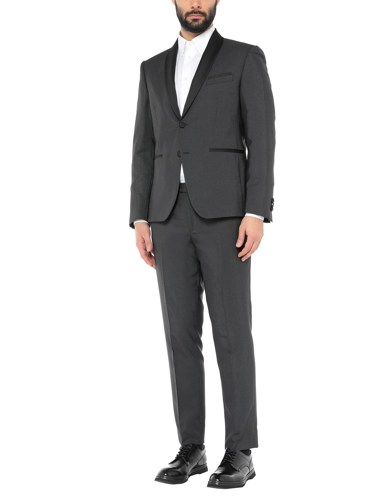 《セール開催中》CITY TIME メンズ スーツ スチールグレー 46 ポリエステル 60% / ウール 38% / ポリウレタン 2%