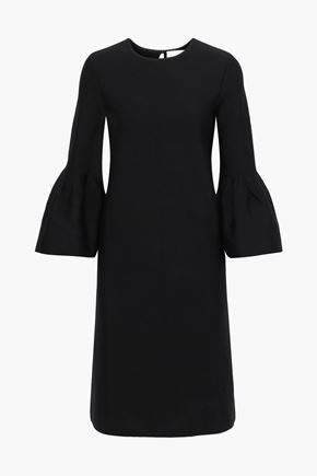 CAROLINA HERRERA Fluted wool-blend dress