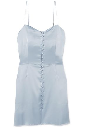 NANUSHKA ボタン付き サテン ミニスリップドレス