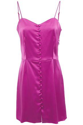 NANUSHKA Mabel button-detailed satin mini slip dress