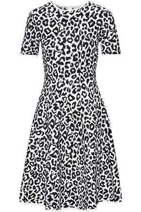 CAROLINA HERRERA Flared leopard-jacquard dress
