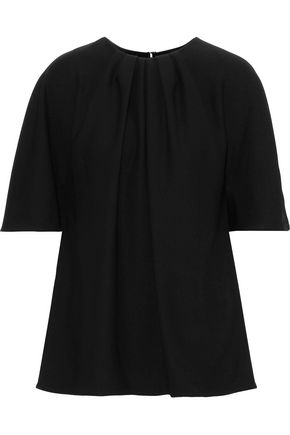 CAROLINA HERRERA Gathered crepe blouse
