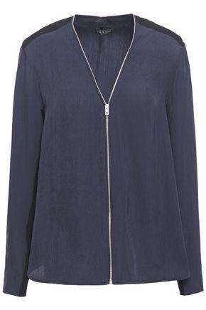 RAG & BONE Vanessa zip-detailed crinkled-twill jacket