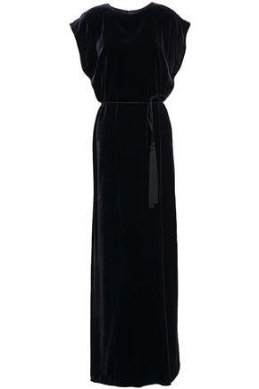 NILI LOTAN Lillian tassel-trimmed velvet gown
