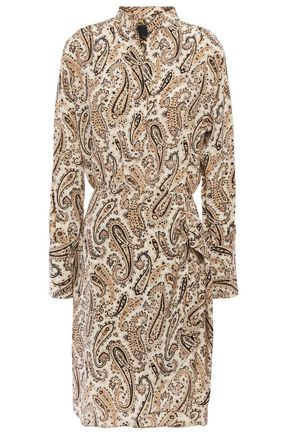 NILI LOTAN Leora wrap-effect printed silk crepe de chine mini dress