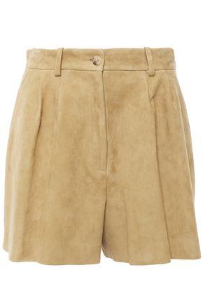 NILI LOTAN Roxana pleated suede shorts