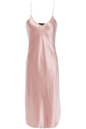 NILI LOTAN Short Cami silk-charmeuse slip dress