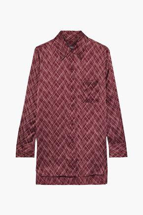 EQUIPMENT Bradner printed washed-silk shirt