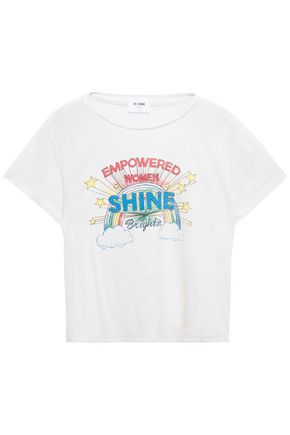 RE/DONE Printed slub cotton-jersey T-shirt