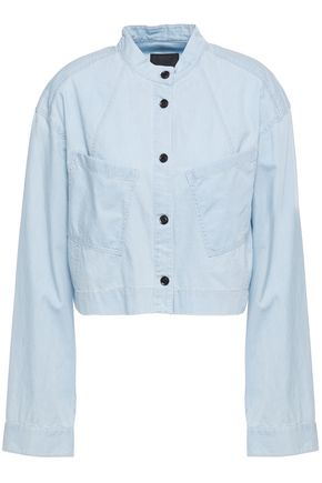 MARISSA WEBB Flynn cropped oversized cotton-drill jacket