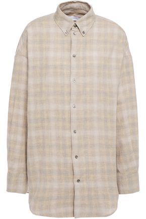 """IRO قميص """"أنفورغيتابل"""" من مزيج الصوف والقطن بنقش الجبهام"""