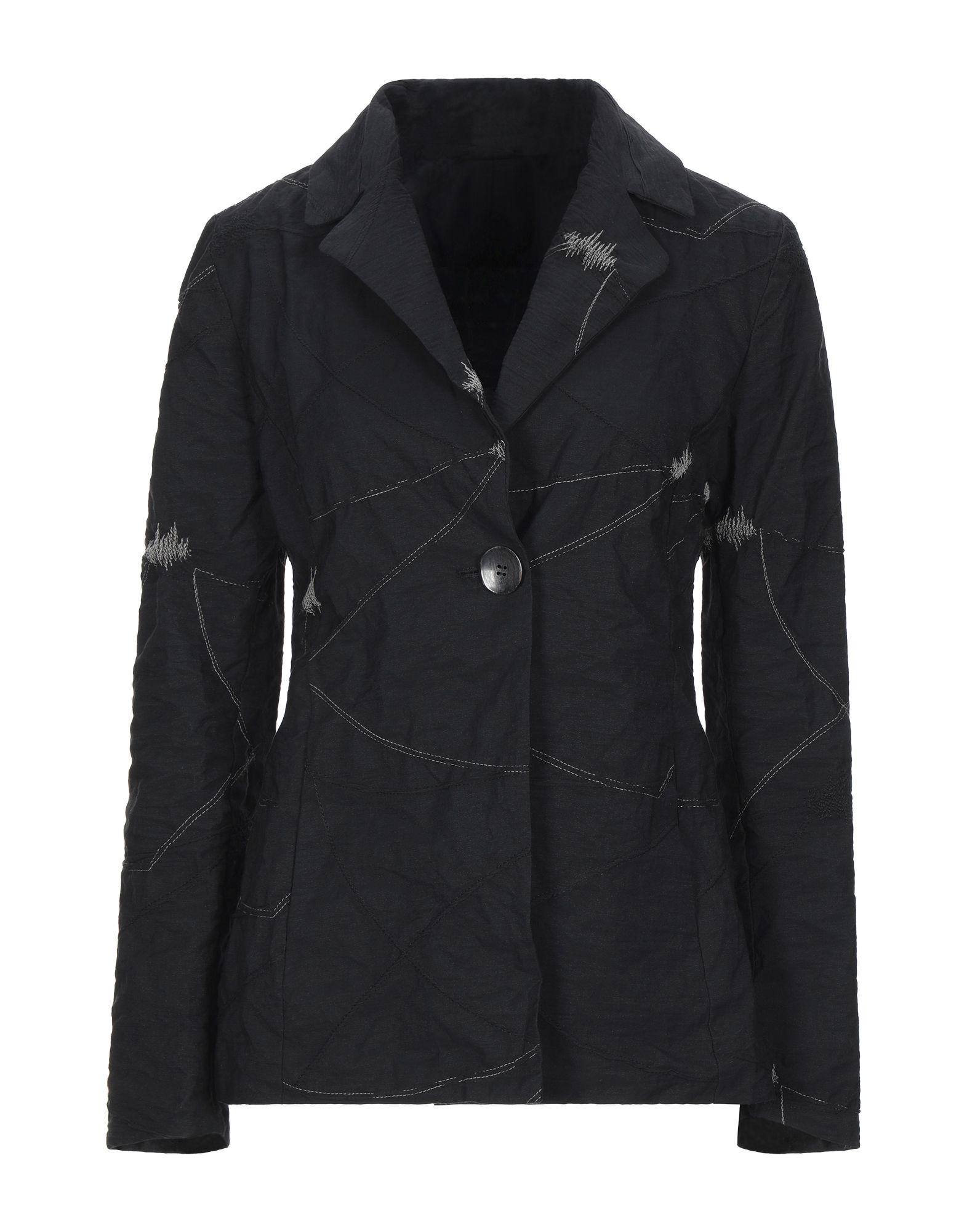 《セール開催中》SIMONA TAGLIAFERRI レディース テーラードジャケット ブラック S コットン 90% / 金属 10%