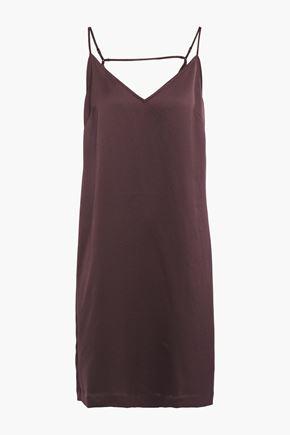 EQUIPMENT Tansie open-back washed-satin slip dress