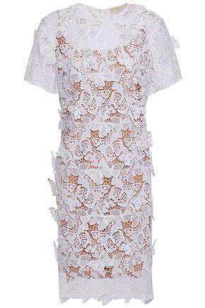 MICHAEL MICHAEL KORS Embellished appliquéd guipure lace dress
