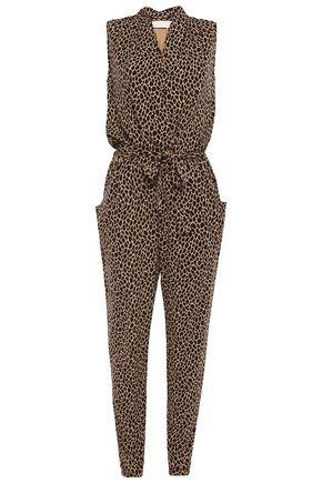 MICHAEL MICHAEL KORS Wrap-effect leopard-print stretch-jersey jumpsuit