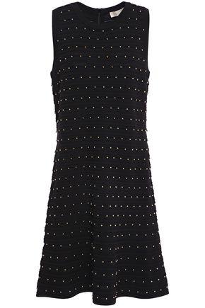 MICHAEL MICHAEL KORS Fluted studded stretch-knit dress
