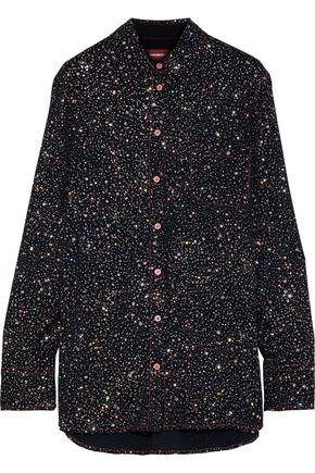 SIES MARJAN Sander glittered crepe shirt