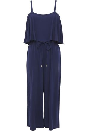 MICHAEL MICHAEL KORS Cropped layered stretch-jersey jumpsuit