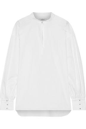 BA&SH Phoebe crystal-embellished cotton-poplin shirt