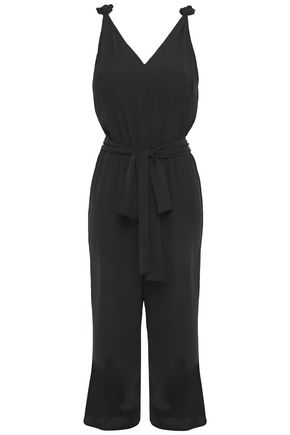 MICHAEL MICHAEL KORS Cropped belted crepe jumpsuit