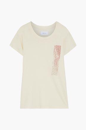CURRENT/ELLIOTT The Relaxed Crew printed slub cotton-jersey T-shirt