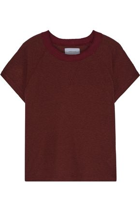 CURRENT/ELLIOTT The Raglan mélange jersey top