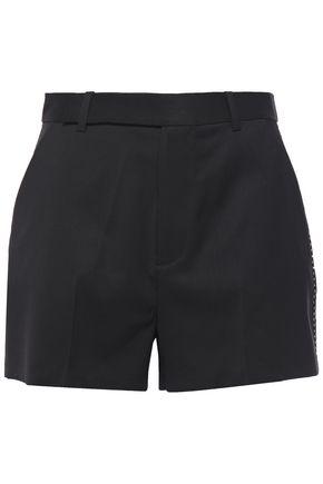 EQUIPMENT Wool-twill shorts