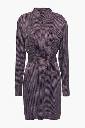 EQUIPMENT Printed satin-twill mini shirt dress
