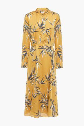 EQUIPMENT Printed satin midi shirt dress